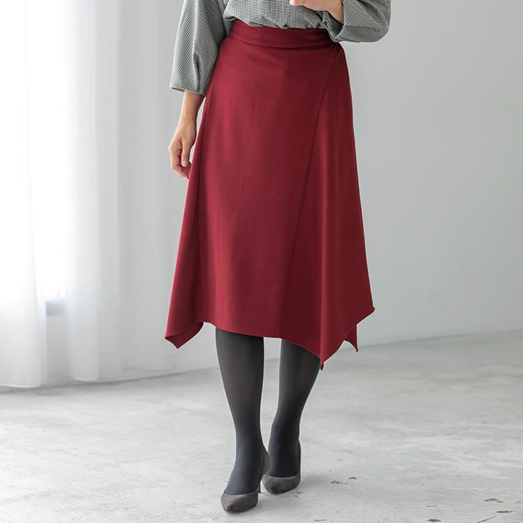ボルドーアシメトリースカート