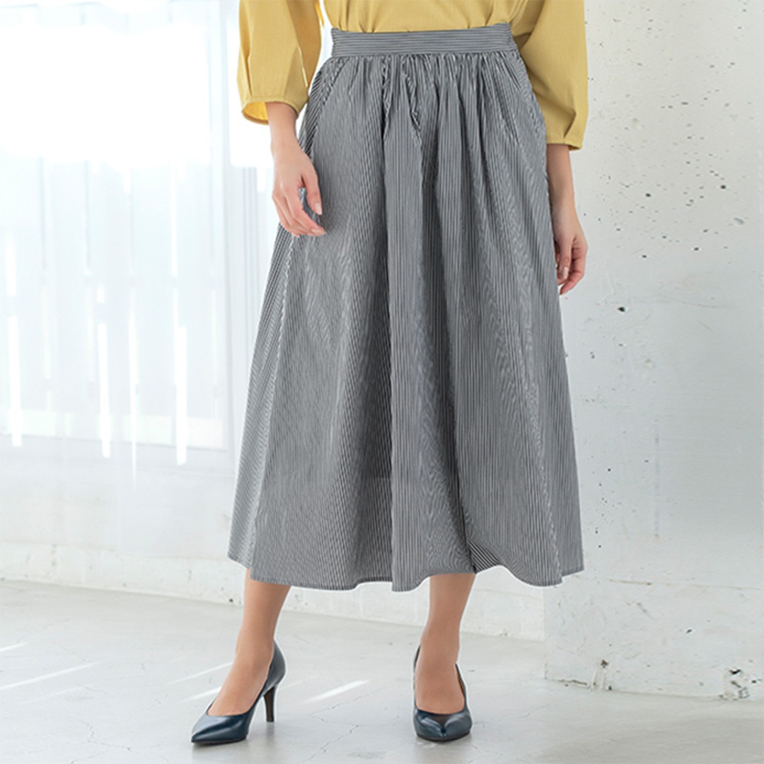 ストライプフレアースカート