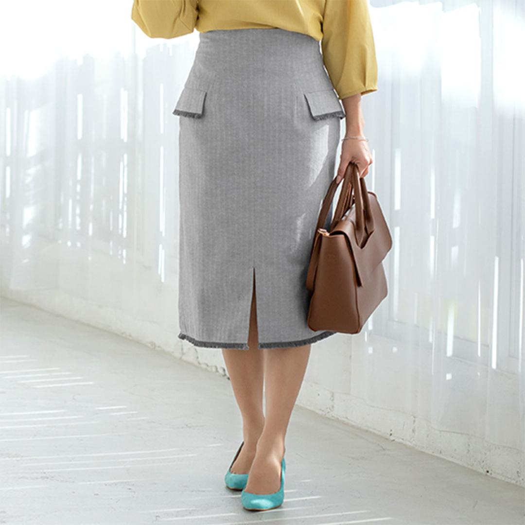 パープルグレータイトスカート