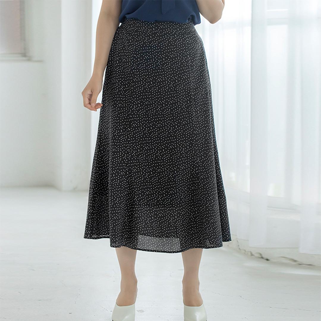 ランダムドットマーメイドスカート