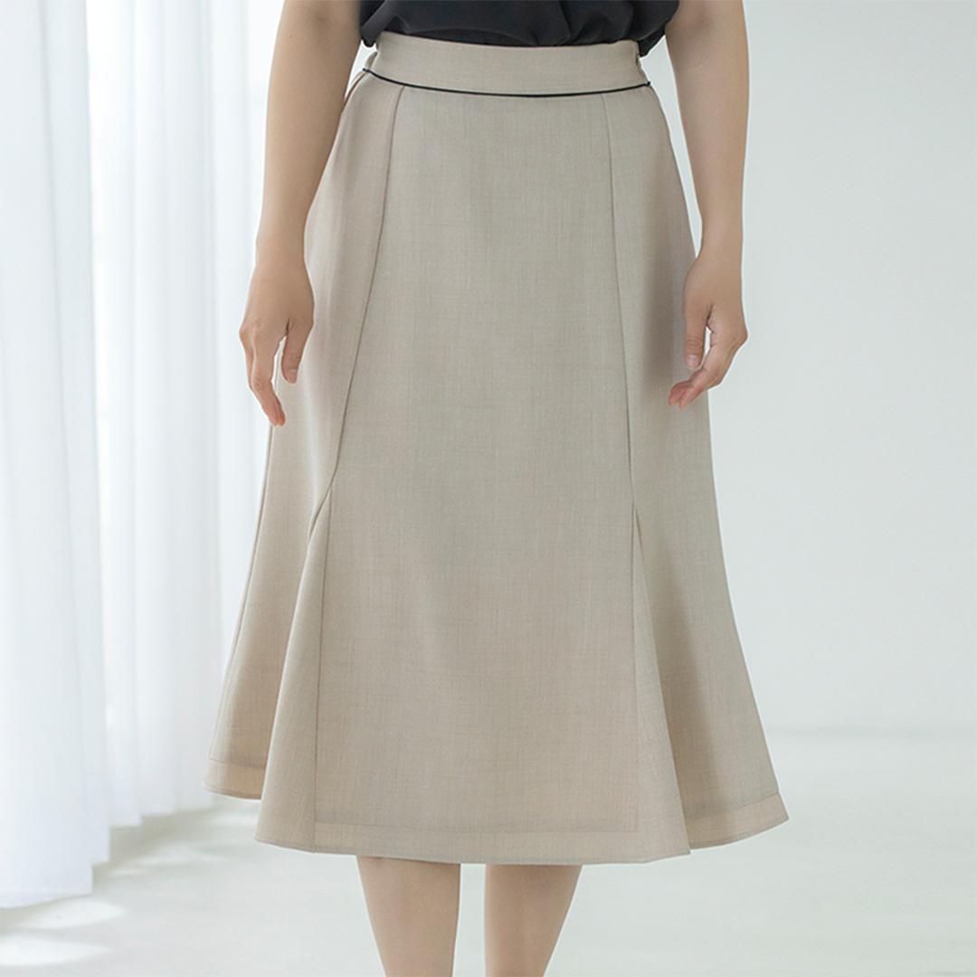 パイピングマーメイドスカート
