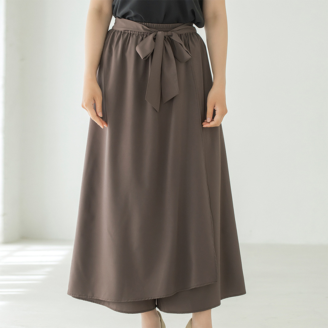 スカート見えエアリーワイドパンツ