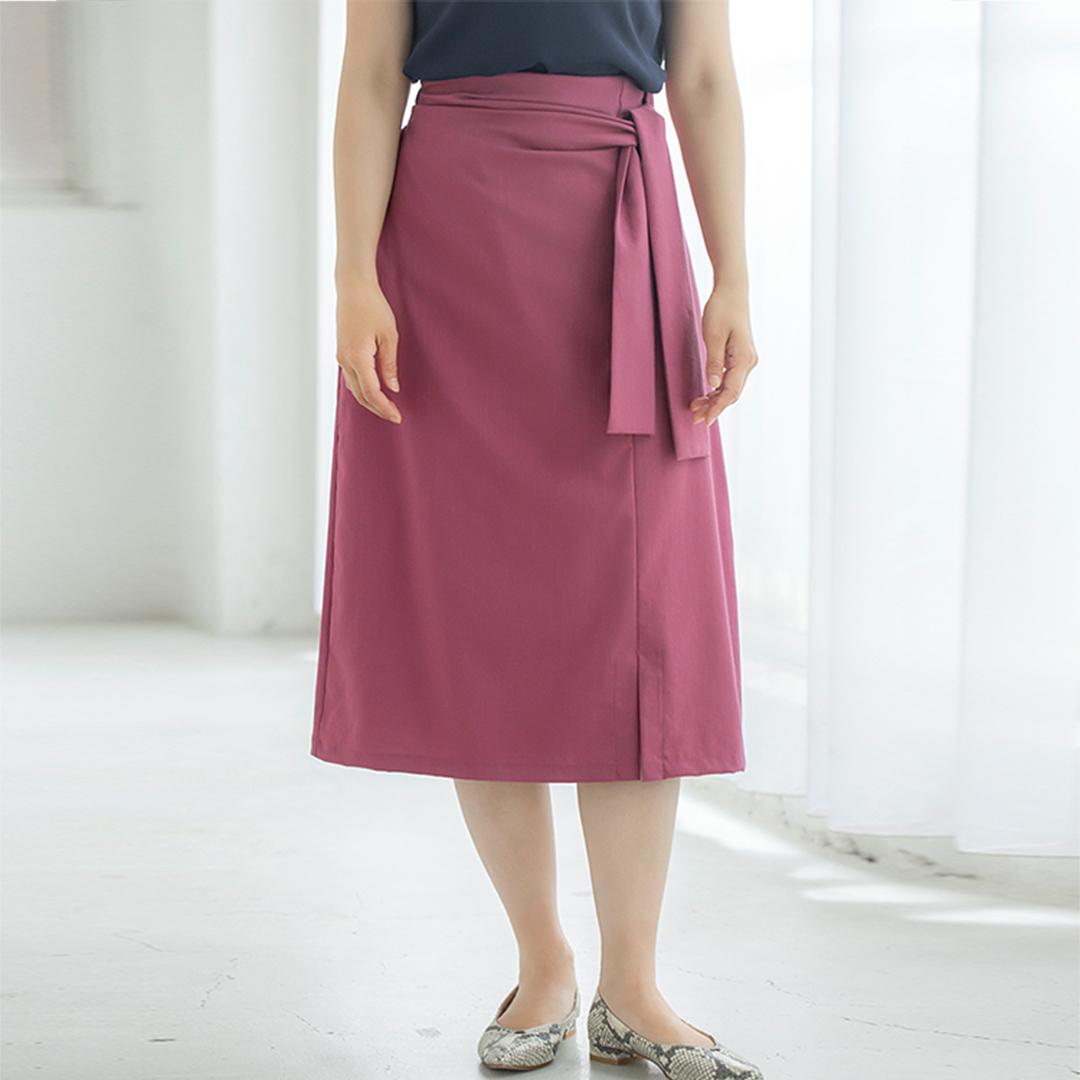 ワイドリボンセミタイトスカート