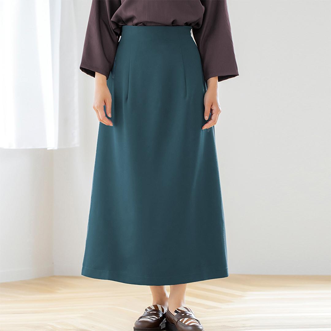 Aラインハイウエストロングスカート