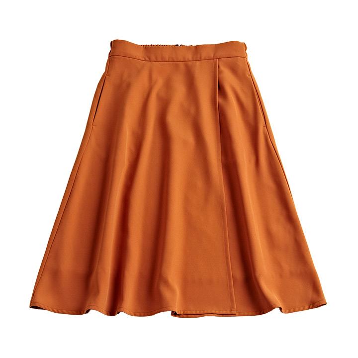 セットアップとろみフレアスカート ※モデル着用Mサイズ