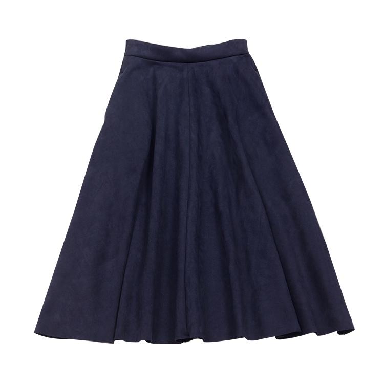 スエード見えボンディングスカート