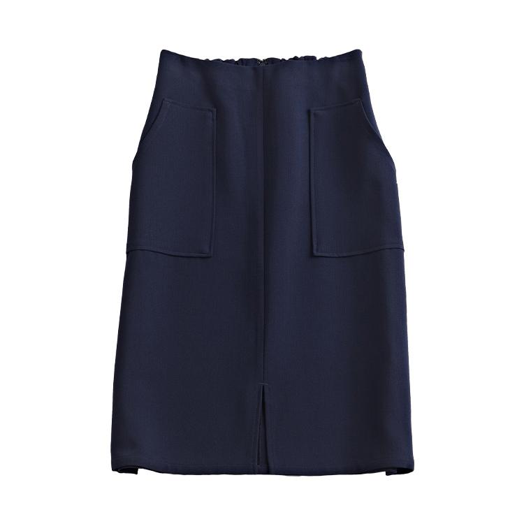 フロントスリットネイビースカート