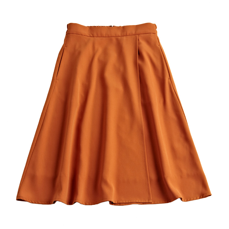 とろみフレアスカート