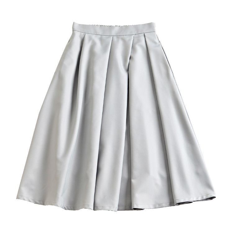 グレイッシュブルーメモリースカート