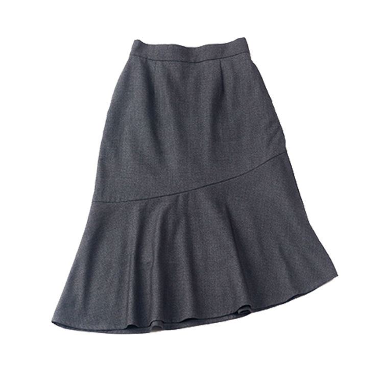 マーメイドライン着痩せ膝丈スカート