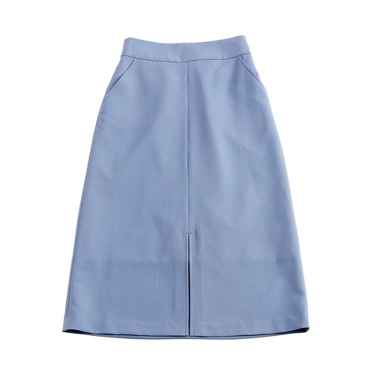 ミディ丈フロントスリットスカート