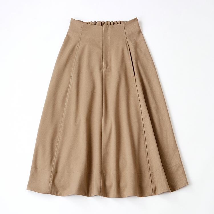 ベージュコットンフレアースカート